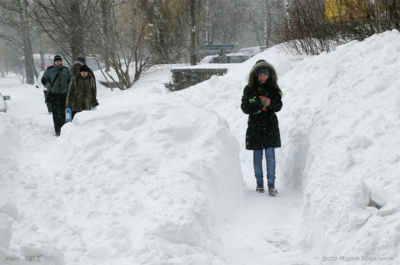 снежная буря в Киеве 2013