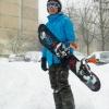 на сноуборде по Киеву