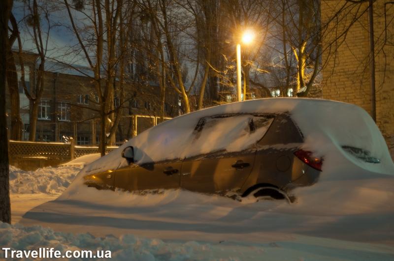 снегопад киев 2013