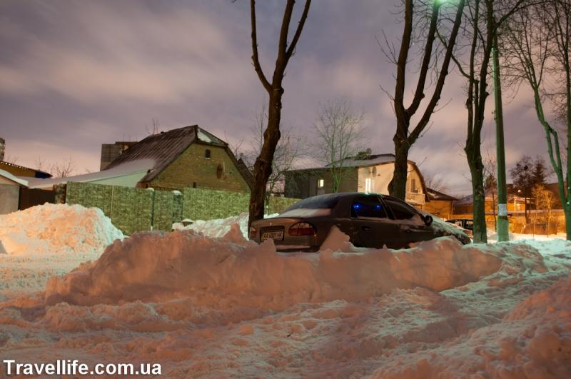 снегопад март 2013