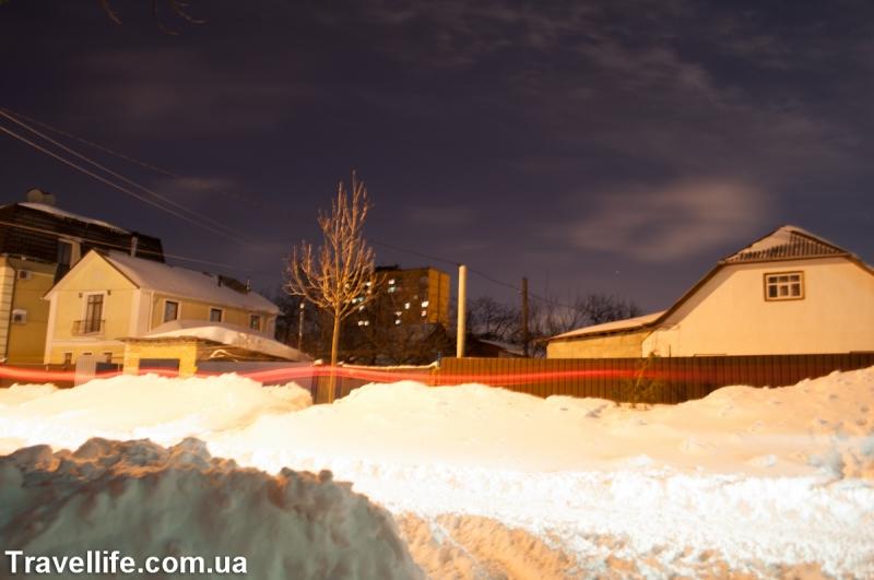 улицы в снегу