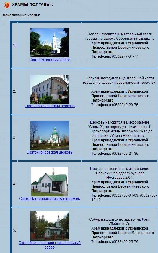 hramyi poltavyi 1 Планируем путешествие в Полтаву
