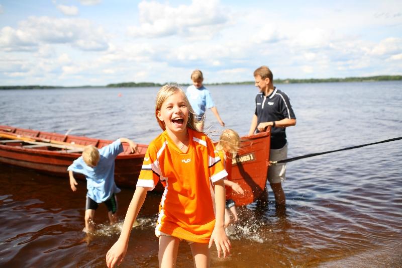 знакомство с семьей на рыбалку